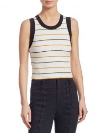 Rita Striped Sleeveless Knit Top at Saks Fifth Avenue