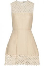 Rita crocheted cotton and linen-blend mini dress at The Outnet