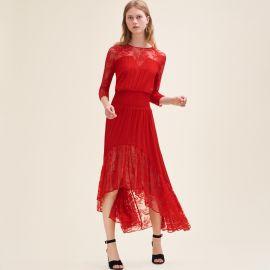 Ritema long lace dress at Maje