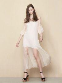 Rivana Silk  Long Dress at Maje