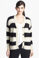 Ro and De Stripe Textured Cardigan at Nordstrom