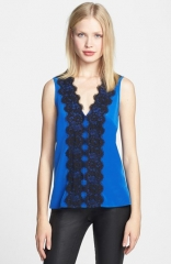 Robbi andamp Nikki Lace Trim Top at Nordstrom
