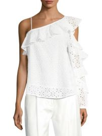 Robert Rodriguez Eyelet Ruffle Blouse at Saks Fifth Avenue