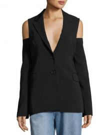 Robert Rodriguez Cold-Shoulder Two-Button Blazer  Black at Neiman Marcus