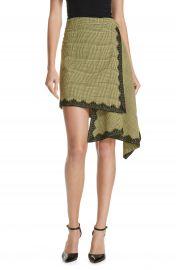 Robert Rodriguez Lace Trim Plaid Skirt at Nordstrom