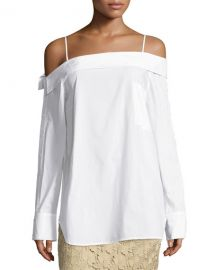 Robert Rodriguez Off-the-Shoulder Poplin Top at Neiman Marcus
