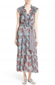 Robert Rodriguez Ruffle Print Silk Dress at Nordstrom