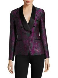 Roberto Cavalli - Paisley Jacquard Double-Breasted Blazer at Saks Fifth Avenue
