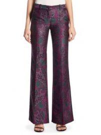 Roberto Cavalli - Paisley Jacquard Flare Pants at Saks Fifth Avenue