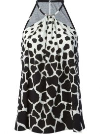 Roberto Cavalli Animal Print Halter Neck Top - Super at Farfetch