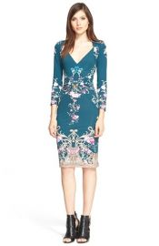 Roberto Cavalli Animalier Print Gathered Waist Jersey Dress at Nordstrom