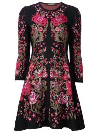 Roberto Cavalli Floral Design Knitted Dress at Farfetch