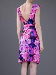 Roberto Cavalli Floral Print Dress at Farfetch