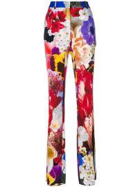 Roberto Cavalli Floral Print Trousers - Farfetch at Farfetch