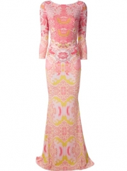 Roberto Cavalli Graphic Print Gown - Spinnaker 101 at Farfetch