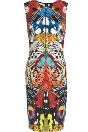 Roberto Cavalli PRINTED STRETCH-KNIT DRESS at The Outnet