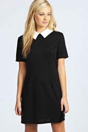 Robin Contrast Collar Dress at Boohoo