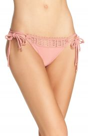 Robin Piccone  Sophia  Tie Side Bikini Bottoms Copper Rose at Nordstrom