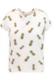 Robin bead-embellished printed cotton-jersey T-shirt at The Outnet