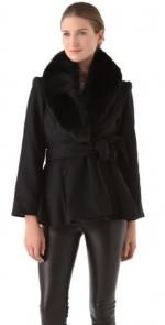 Robins black coat at Shopbop