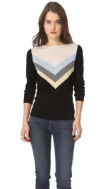 Robin's chevron striped top at Shopbop