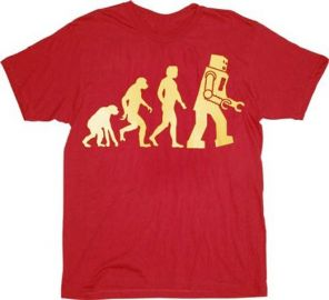 Robot Evolution Shirt at Amazon