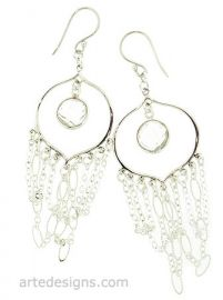 Rocker Chick Hoop Earrings at Arte Designs