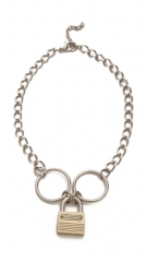 Rodarte Padlock Chain Necklace at Shopbop