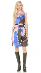 Rodarte Tie Dye Silk Belted Dress at Shopbop