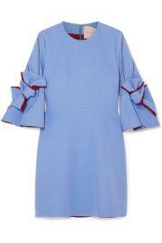 Roksanda   Harlin bow-embellished crepe mini dress at Net A Porter