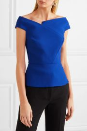 Roland Mouret   Elmswell off-the-shoulder crepe top at Net A Porter