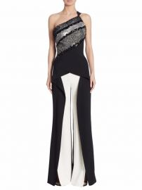 Roland Mouret - Hirsch One-Shoulder Jumpsuit at Saks Fifth Avenue