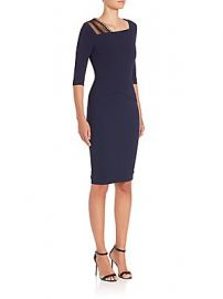 Roland Mouret - Ingram Stretch Viscose  amp  Lace Dress at Saks Fifth Avenue