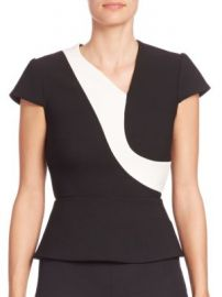 Roland Mouret - Kiff Colorblock Top at Saks Fifth Avenue