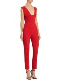 Roland Mouret - Lowle Plunging Jumpsuit at Saks Fifth Avenue