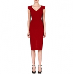 Roland Mouret Atria Wool Dress at Selfridges