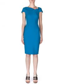 Roland Mouret Lepas Fold-Pleated Crepe Dress at Neiman Marcus