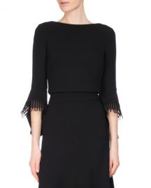 Roland Mouret Tarring Fringe Handkerchief Midi Skirt  Black and at Neiman Marcus