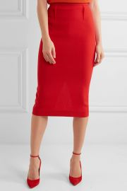 Roland MouretArreton Wool-Crepe Pencil Skirt at Net A Porter