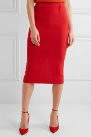 Roland mouret Arreton wool-crepe pencil skirt at Net A Porter