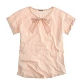 Roll Sleeve Tee with Bow at J. Crew