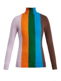 Roll-neck striped cotton-blend sweater at Matches