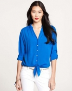 Rolled sleeve blouse at Ann Taylor