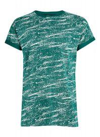 Roller Fit Green Splatter T-Shirt at Topman