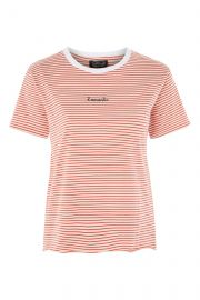Romantic stripe t shirt at Topshop