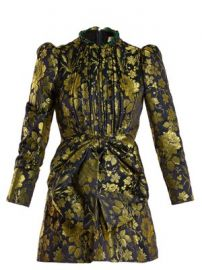 Romantic Flower-jacquard high-neck dress at Matches