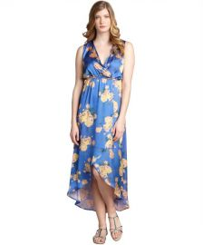 Romeo and Juliet Couture Periwinkle Floral Dress at Bluefly