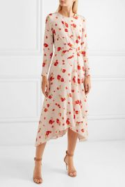 Romona floral-print silk crepe de chine midi dress at Net A Porter