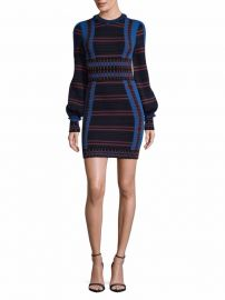 Ronny Kobo Multi-Stripe Bodycon Dress at Saks Off 5th