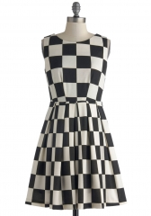 Room and Checkerboard Dress at ModCloth